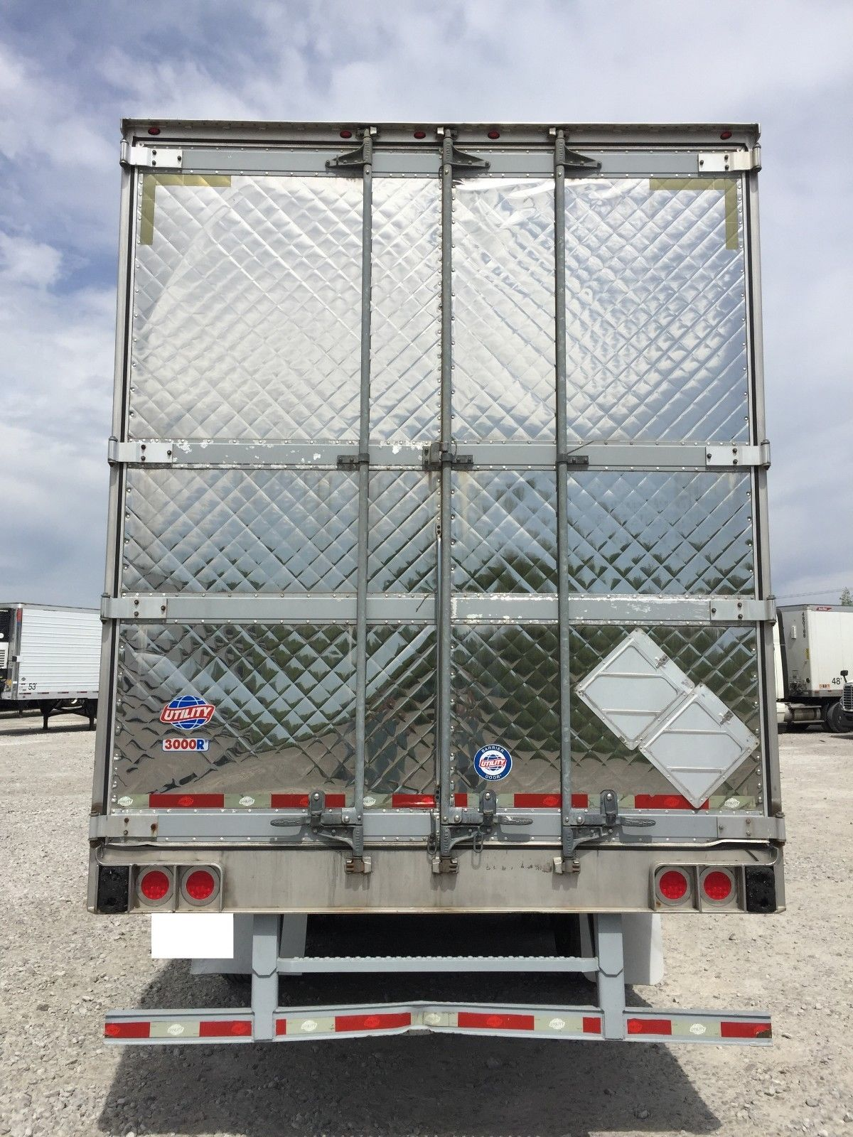 REAR STAINLESS DOORS REFRIGERATED REEFER TRAILERS 2009 WABASH 2007 2008 UTILITY