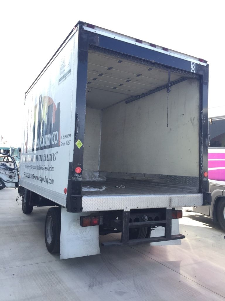 USED 14' ATLAS REEFER BODY with CB 10 THERMO KING (VEHICLE POWERED) REEFER 08/99