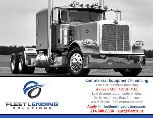 Truck, Trailer, AG & Construction Equipment Financing (Pensacola)