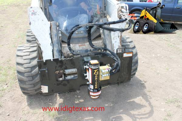 Skid Steer - DANUSER T3 Post Driver - SUPERSALE - BOBCAT CAT KUBOTA (Central TX/Delivery) $1625