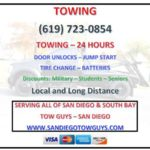 CHEAP 24 HOUR - TOWING - BATTERIES - DOOR UNLOCK- JUMP - TIRE CHANGE (SAN DIEGO AND SOUTH BAY)