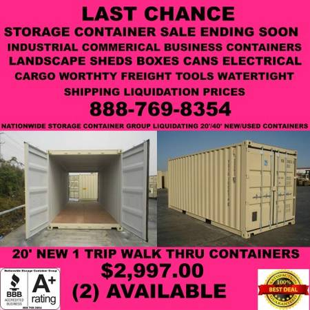 FINAL NOTICE CONTAINERS STORAGE SHIPPING EQUIPMENT CONTAINER BOX HOUR (Dallas landscape construction industrial commerical box hour) $2500